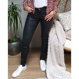 Pantalon similicuir noir slim coupe confort