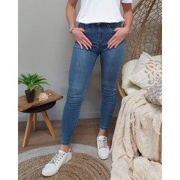 Jean skinny vintage blue super taille haute