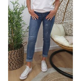 Jean clair slim coupe confort strass poches