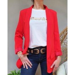 Veste blazer unie rouge