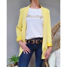 Veste blazer unie jaune