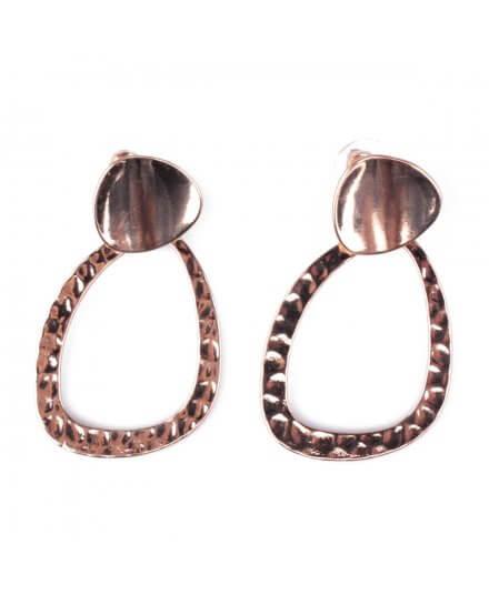 Boucles d'oreilles dorées Trapina