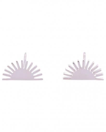 Boucles d'oreilles Acier petits éventails Lolilota