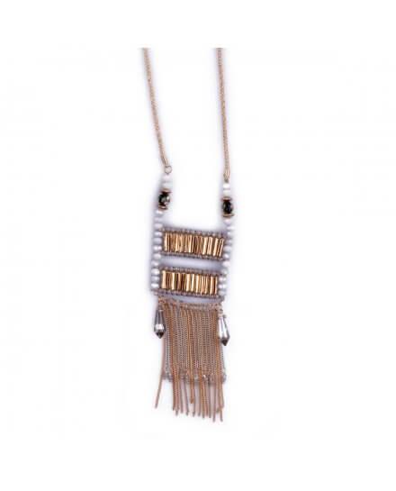 Sautoir Lolilota Voilage de perles et chaînettes