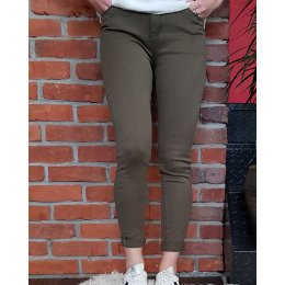 Pantalon kaki skinny taille haute
