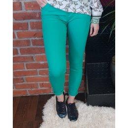 Pantalon vert d'eau slim push up taille haute