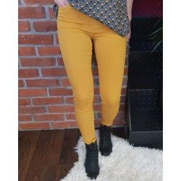 Pantalon jaune moutarde long skinny taille haute
