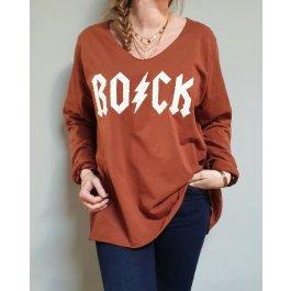 T-Shirt oversize ROCK eclair-Camel