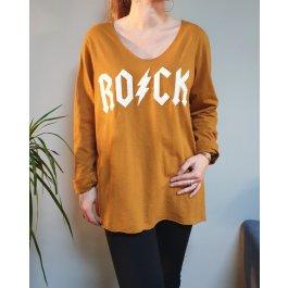 T-Shirt oversize ROCK eclair-Jaune