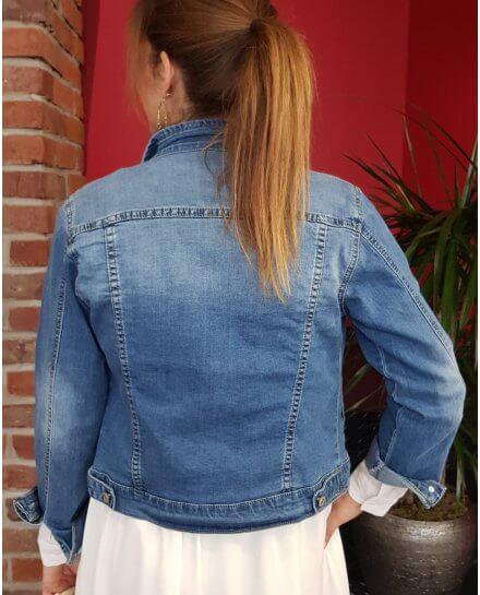 Veste en jeans bleu