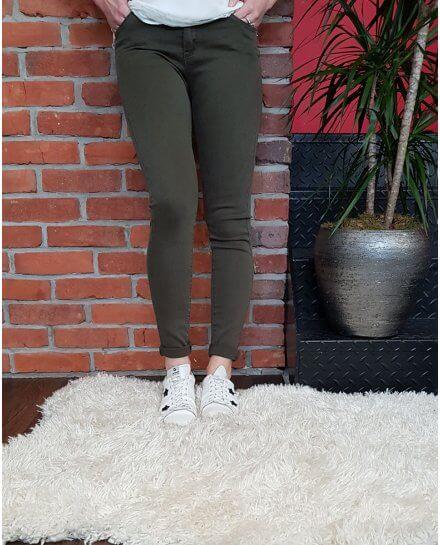 Pantalon kaki foncé slim push up