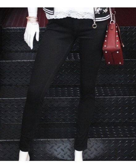 Pantalon noir skinny taille haute