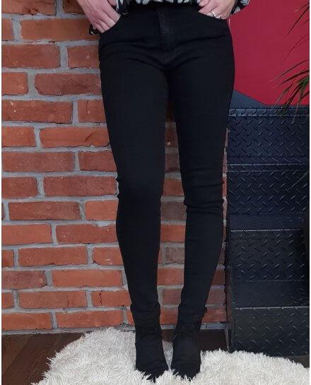 Pantalon noir slim push up taille haute