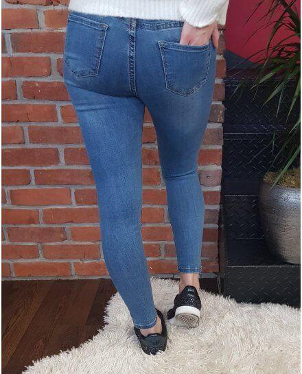 Jean bleu clair skinny taille haute