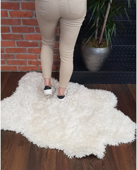 Pantalon beige slim push up taille haute