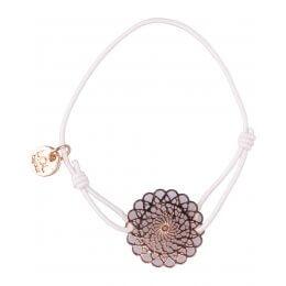 Bracelet LOL élastique rosace fleurie filigrane