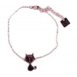 Bracelet MILE MILA acier cuivré petits chats