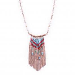 Collier Lolilota Ridalis perles bleues et rouges