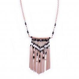 Collier Lolilota Ridalis perles noires et blanches