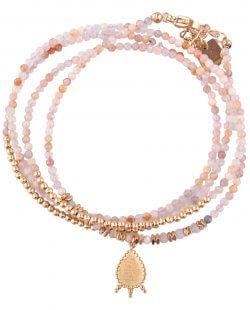 bracelet femme pas cher perle rose
