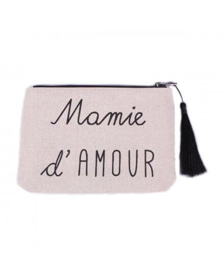 Pochette LOL beige pailletée Mamie d'amour et pompon