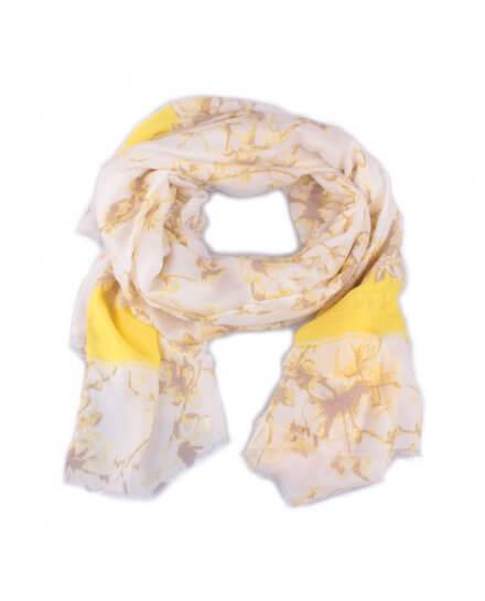 Echarpe jaune beige et dorée Rosita