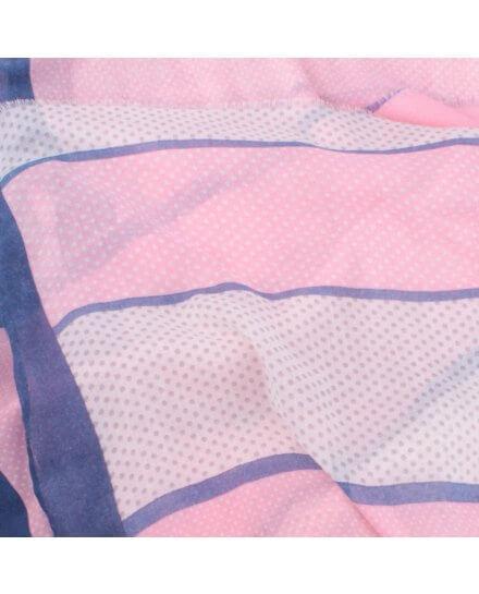 Echarpe à pois bleue rose grise Bandipi