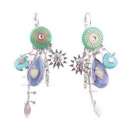 Boucles d'oreilles LOL bleues vertes Goutisoli