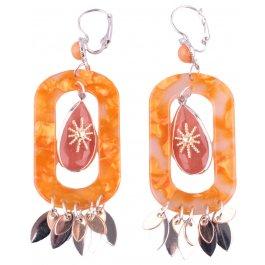 Boucles d'oreilles LOL oranges Angkor