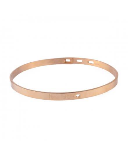 Bracelet acier doré MILE MILA jonc Maman parfaite