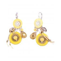 Boucles d'oreilles LOL jaunes perles de soleil