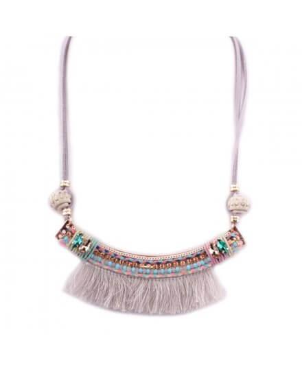 Collier Lolilota Arc perles et strass franges